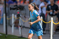 Houston, TX - Saturday May 13, Sky Blue FC midfielder Taylor Lytle (6) enters the field for the 2nd half during a regular season National Women's Soccer League (NWSL) match between the Houston Dash and Sky Blue FC at BBVA Compass Stadium. Sky Blue won the game 3-1.
