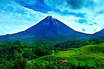 Costa Rica, El Castillo, Mountain Lodge View, Arenal Volcano, Lava Flows, Rainforest.