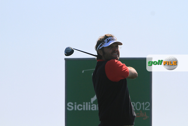 Jose Manuel Lara (ESP) on the 9th tee on Day 1 of the 2012 Sicilian Open at Verdura Golf and Spa Resort, Sicily, Italy...(Photo Jenny Matthews/www.golffile.ie)