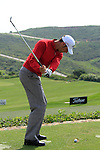 Alvaro Quiros (ESP) in action on the practice range during Day 1 of the Volvo World Match Play Championship in Finca Cortesin, Casares, Spain, 19th May 2011. (Photo Eoin Clarke/Golffile 2011)