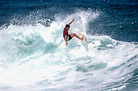 Pierre Agnes (FRA)  circa 1989  surfing in the Basque Country Photo: joliphotos