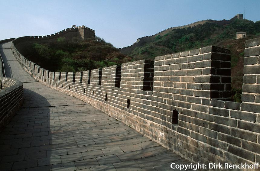 Große Mauer(Chang Cheng)  bei Badaling nahe Peking, China, Unesco Weltkulturerbe