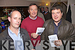 Night Out - Enjoying themselves at  the Race Night held in aid of Churchill GAA Club in The Oyster Tavern, The Spa on Friday night were l/r Paul Hamilton, The Spa, Dave Buckley, Barrow and John O'Brien, Kilfenora.