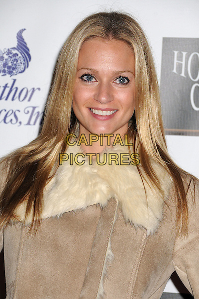 AJ Cook.2012 Hollywood Christmas Parade held on Hollywood Blvd., Hollywood, California, USA.  .November 25th, 2012.headshot portrait white beige fur jacket  .CAP/ADM/BP.©Byron Purvis/AdMedia/Capital Pictures.