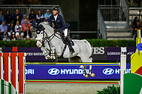 GBR-Ben Maher rides Carlson 86 during the Hyundai Cup of the City of Barcelona. 2019 CSIO Barcelona - Longines FEI Nations Cup Jumping Final. Reial Club de Polo de Barcelona. Spain. Friday 4 October. Copyright Photo: Libby Law Photography