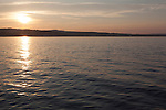 Lake Michigan summer sunset, seen from Open Space Park, Traverse City, Michigan, MI, USA