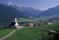 AJ1974, Alps, Switzerland, Graubunden, Europe, Scenic view of the alpine village of Salouf in the Canton of Graubunden.