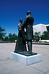 Utah, Salt Lake City, Statue of Joseph and Emma Smith..Photo # utsalt612.  Photo copyright Lee Foster.  .