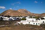Montana de Medio mountain, Los Ajaches mountain range, Yaiza village, Lanzarote, Canary Islands, Spain