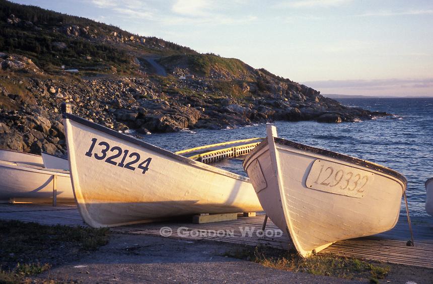 Fishing Dories in a Cove, Avalon Peninsula, Newfoundland, Canada