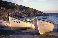 Fishing Dories in a Cove, Avalon Peninsula, Newfoundland, Canada