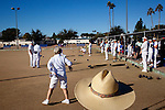Over 96 players compete at the Gil Sephan Arizona Mixed Rinks Lawn Bowling tournament at Bell Recreation Center in Sun City, Arizona January 9, 2010. Competitors are not only local, the tournament had players from Canada, the West Coast and Florida. January and February is big lawn bowling tournament season in Sun City.