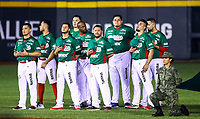Affected baseball put color and atmosphere in the Charros de Jalisco Stadium, during the matches of teams from Mexico, Cuba, Puerto Rico, Dominican Republic and Venezuela competing for the Caribbean Series championship in Guadalajara, Mexico, on Friday, February 2, 2018. (AP Photo / Luis Gutierrez)