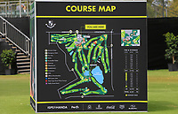 Course map during the Preview of the ISPS Handa World Super 6 Perth at Lake Karrinyup Country Club on the Wednesday 7th February 2018.<br /> Picture:  Thos Caffrey / www.golffile.ie<br /> <br /> All photo usage must carry mandatory copyright credit (&copy; Golffile | Thos Caffrey)