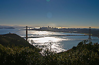 View from Marin Headlands near one of the Golden Gate Raptor Observatory bird banding blinds.