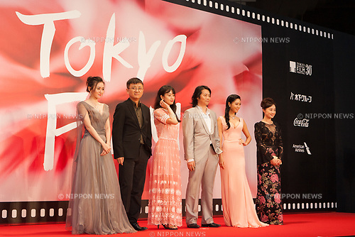 Film Crew, China Film Week in Tokyo & Okinawa 2017 appears on the opening red carpet for The 30th Tokyo International Film Festival in Roppongi on October 25th, 2017, in Tokyo, Japan. The festival runs from October 25th to November 3rd at venues in Tokyo. (Photo by Michael Steinebach/AFLO)