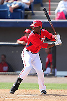 Washington Nationals Roger Bernadina #2 during a spring training game against the Florida Marlins at Spacecoast Stadium on March 27, 2011 in Melbourne, Florida.  Photo By Mike Janes/Four Seam Images