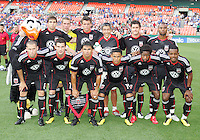 Starting eleven of D.C. United with Will Chang during an international charity match against the national team of El Salvador at RFK Stadium, on June 19 2010 in Washington DC. D.C. United won 1-0.
