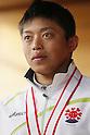 Kazuki Yazawa (JPN), APRIL 15, 2012 - Canoeing : Kazuki Yazawa of japan pose during the 2012 Canoeing NHK Cup slalom Competitions, Men's Kayak Single race victory ceremony at Ida River, Toyama, Japan. (Photo by Yusuke Nakanishi/AFLO SPORT) [1090]