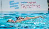 Picture by Allan McKenzie/SWpix.com - 25/11/2017 - Swimming - Swim England Synchronised Swimming National Age Group Championships 2017 - GL1 Leisure Centre, Gloucester, England - Madeleine Staples & Rebecca Saunders, Swim England, Synchro, branding.