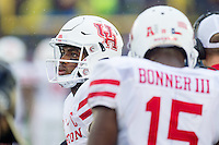 Annapolis, MD - OCT 8, 2016: Houston Cougars quarterback Greg Ward Jr. (1) looks on from the sideline during game between Houston and Navy at Navy-Marine Corps Memorial Stadium Annapolis, MD. The Midshipmen upset #6 Houston 46-40. (Photo by Phil Peters/Media Images International)