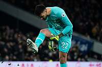 Tottenham's Paulo Gazzaniga reacts to his team's wide shot<br /> <br /> Photographer Stephanie Meek/CameraSport<br /> <br /> The Premier League - Tottenham Hotspur v Liverpool - Saturday 11th January 2020 - Tottenham Hotspur Stadium - London<br /> <br /> World Copyright © 2020 CameraSport. All rights reserved. 43 Linden Ave. Countesthorpe. Leicester. England. LE8 5PG - Tel: +44 (0) 116 277 4147 - admin@camerasport.com - www.camerasport.com