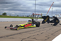 May 20, 2017; Topeka, KS, USA; NHRA top fuel driver Troy Coughlin Jr during qualifying for the Heartland Nationals at Heartland Park Topeka. Mandatory Credit: Mark J. Rebilas-USA TODAY Sports