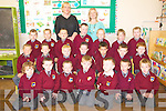 Scoil Realta na Maidne, Listowel Junior infants. ..Front : David Noble, Ryan Rooney, Kieran Fealy, Ethan Tritschler, Oisin Shine, Glynn Keane & Stephen Dillon...Centre: Stephen Meeny, Paul Evans, Jude Slemon, Michael McCarthy, Joshua Magdziak, Ryan Sharp & Leo Cuddigan. ..Back: T.J. O'Donogjhue, Callum Keaner, Sam Puntas, Shay Doyle, Christophrt Heffernan, Bobby Houlihan & Alex O'Connor...Back Joan O'Connell & Deidre O'Connor