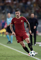 Football Soccer: UEFA Champions League AS Roma vs Atletico Madrid Stadio Olimpico Rome, Italy, September 12, 2017. <br /> Roma's Aleksandar Kolarov in action during the Uefa Champions League football soccer match between AS Roma and Atletico Madrid at at Rome's Olympic stadium, September 12, 2017.<br /> UPDATE IMAGES PRESS/Isabella Bonotto