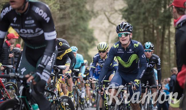 Carlos Betancur (COL/Movistar) up the (new) C&ocirc;te de la Ferme Libert<br /> <br /> 103rd Li&egrave;ge-Bastogne-Li&egrave;ge 2017 (1.UWT)<br /> One Day Race: Li&egrave;ge &rsaquo; Ans (258km)