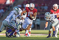Stanford, CA - September 2, 2016: Ryan Burns during the Stanford vs Kansas State football game at Stanford Stadium. The Cardinal defeated the Wildcats 26-13.