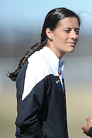 Boyds, Maryland - March 15, 2014. Ali Krieger of the Washington Spirit.  The Washington Spirit during the Meet the Team at the Maryland SoccerPlex.