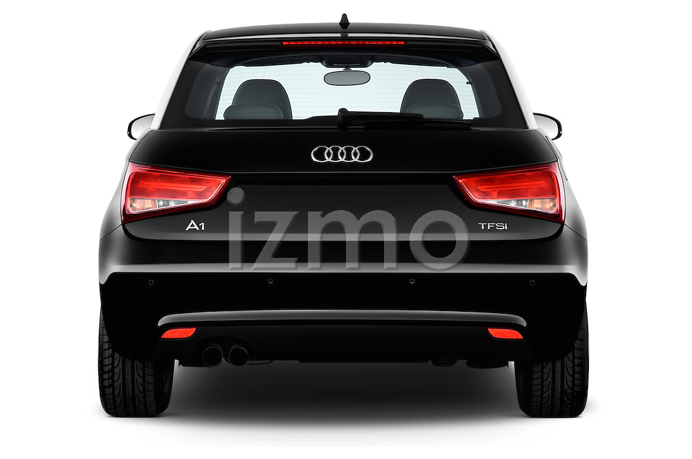 Straight rear view of a 2014 Audi A1 Ambition 3 Door Hatchback 2WD