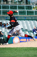 Richmond Flying Squirrels pitcher Omar Javier (28) during game against the Trenton Thunder at ARM & HAMMER Park on April 14 2013 in Trenton, NJ.  Trenton defeated Richmond 15-1.  (Tomasso DeRosa/Four Seam Images)