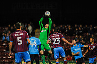 Scunthorpe Utd's goalkeeper Matt Gilks (1) takes a cross out of the air during the Sky Bet League 1 match between Scunthorpe United and Fleetwood Town at Glanford Park, Scunthorpe, England on 17 October 2017. Photo by Stephen Buckley/PRiME Media Images