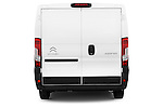 Straight rear view of a 2015 Citroen Jumper L1H1 Club 3 Door Cargo Van Rear View  stock images