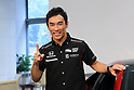 Motor : Takuma Sato 2017 Indianapolis 500 winner attends press conference in Tokyo