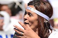 SAO PAULO, 18 DE AGOSTO DE 2012 - MANIFESTACAO CASO BIANCA - Marta, mae da menina Bianca em  protesto que pede que o assasino seja levado a Juri Popular e por aumento da pena maxima para crimes ediondos, no vao lire do MASP, Avenida Paulista, regiao central da capital, no inicio da tarde deste sabado. FOTO: ALEXANDRE MOREIRA - BRAZIL PHOTO PRESS