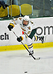 10 February 2012: University of Vermont Catamount forward Kyle Mountain, a Freshman from Bryn Mawr, PA, in action against the Boston College Eagles at Gutterson Fieldhouse in Burlington, Vermont. The Eagles defeated the Catamounts 6-1 in their Hockey East matchup. Mandatory Credit: Ed Wolfstein Photo
