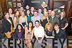 Jason Foley and Cliondhna Corry, Kilgobnet, Beaufort pictured with their families and friends as they celebrated their engagement in Kingstons Bar, Killorglin  on Saturday night.