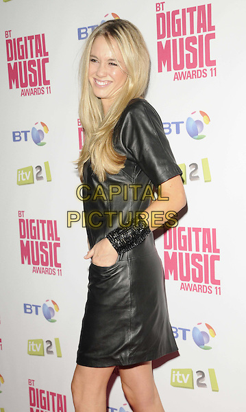 Florence Brudenell-Bruce.BT Digital Music Awards held at the Roundhouse, Chalk Farm, London, England..September 29th 2011.half length dress side cuff bracelet black leather smiling hand in pocket.CAP/CAN.©Can Nguyen/Capital Pictures.
