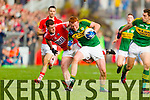 Johnny Buckley Kerry in action against Fintan Goold Cork in the National Football League at Pairc Ui Rinn, Cork on Sunday.