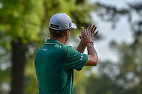 Justin Thomas (USA) gives the crowd his ceremonial thanking clap as he departs 18 following round 4 of the World Golf Championships, Mexico, Club De Golf Chapultepec, Mexico City, Mexico. 3/4/2018.<br /> Picture: Golffile | Ken Murray<br /> <br /> <br /> All photo usage must carry mandatory copyright credit (&copy; Golffile | Ken Murray)