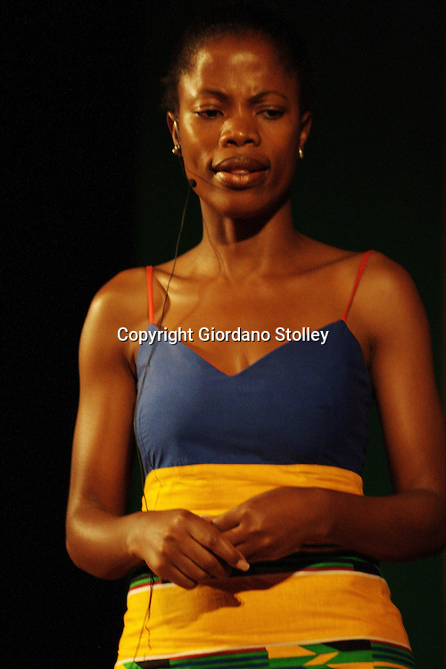 """DURBAN - 23 January 2008 - Bawinile """"Winnie"""" Ntshaba, who plays Khethiwe Buthelezi on the popular Generations television soap opera speaks at the launch of the Inkatha Freedom Party's Purpose, Vision and Values Programme..Picture: Giordano Stolley/Allied Picture Press"""