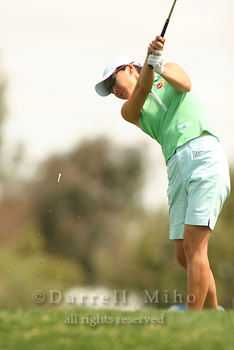 Apr. 1, 2006; Rancho Mirage, CA, USA; Candie Kung tees off on the 6th hole at the Kraft Nabisco Championships at Mission Hills Country Club. ..Mandatory Photo Credit: Darrell Miho.Copyright © 2006 Darrell Miho .