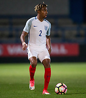 Demeaco Duhaney (Manchester City) of England U20 during the International friendly match between England U20 and Netherlands U20 at New Bucks Head, Telford, England on 31 August 2017. Photo by Andy Rowland.