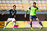 Vincent Lucas Weijl of Wofoo Tai Po (R) followed by Kin Man Tong of Sun Pegasus FC (L) during the HKFA Premier League between Wofoo Tai Po vs Sun Pegasus at the Tai Po Sports Ground on 22 November 2014 in Hong Kong, China. Photo by Aitor Alcalde / Power Sport Images