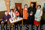 """The Abbeydorney Drama Group launch their play """"The Real McCoy"""" in the Abbeydorney Community Centre on Friday night.<br /> Front l to r: Christine Buckley (Maura), Mike Carroll (Fr McCoy) and Anna Curtin (Madge).<br /> Back l to r: Liam Gowan (Producer/Director), John Michael Fitzgerald (Martin Daly), Peggy O'Halloran (Nora O'Hora) and Brendan O'Halloran (Chairman Abbeydorney Drama)."""
