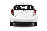 Straight rear view of a 2015 Toyota Prius c Three 5 Door Hatchback Rear View  stock images