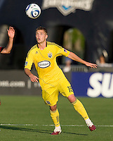 Robbie Rogers of the Crew in action during the game against the Earthquakes at Buck Shaw Stadium in Santa Clara, California on June 2nd, 2010.  San Jose Earthquakes tied Columbus Crew, 2-2.
